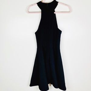 C/MEO Collective Black Fusion Halter Dress XS